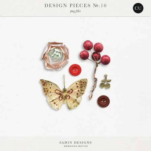 Design Pieces No.10 - Sahin Designs - CU Digital Scrapbook