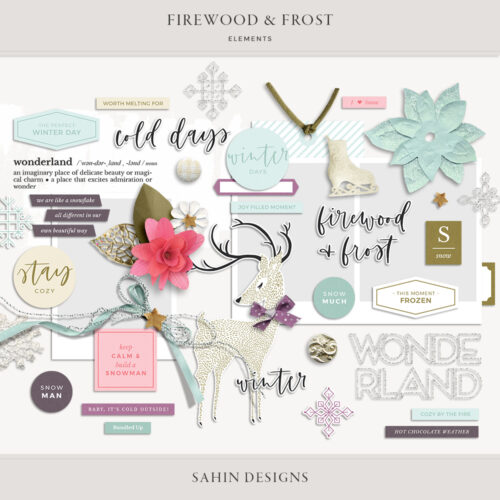 Firewood & Frost Digital Scrapbook Elements - Sahin Designs