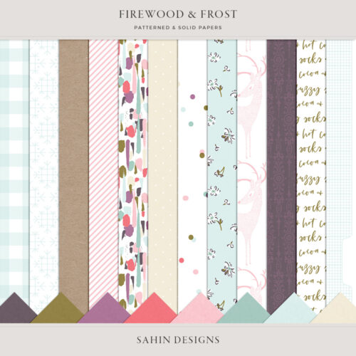 Firewood & Frost Digital Scrapbook Papers - Sahin Designs