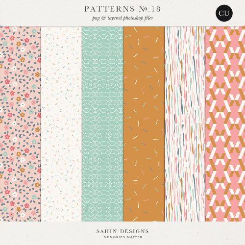 Patterns No.18 - Sahin Designs - CU Digital Scrapbook