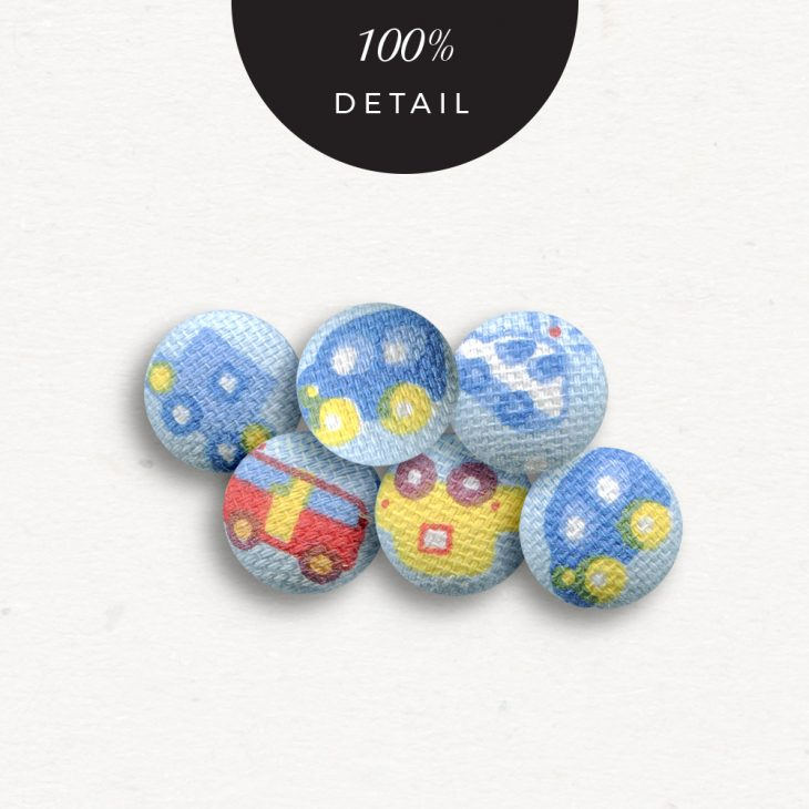 Extracted Car Print Fabric Buttons - Sahin Designs - CU Digital Scrapbook