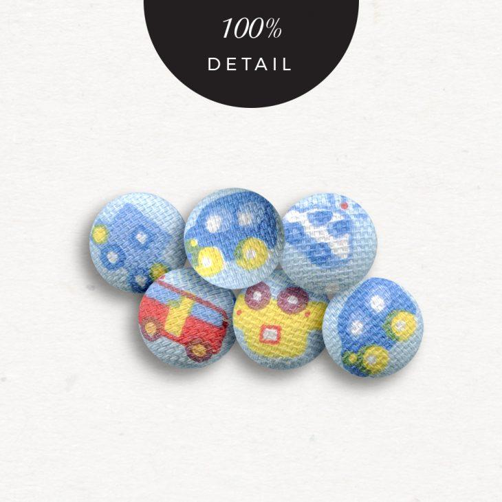 Extracted Car Print Fabric Buttons - Sahin Designs - CU Digital Scrapbook