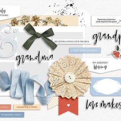 Grandma and Grandpa Digital Scrapbook Collection - Sahin DesignsGrandma and Grandpa Digital Scrapbook Collection - Sahin Designs