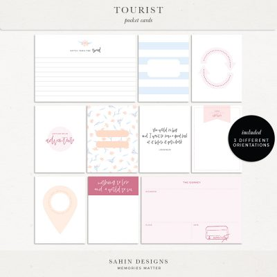 Tourist Printable Pocket Cards - Sahin Designs