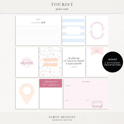 Tourist Printable Pocket Cards - Sahin Designs