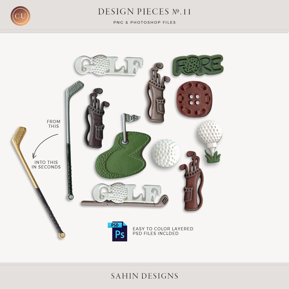 Design Pieces No.11 - Sahin Designs - CU Digital Scrapbook