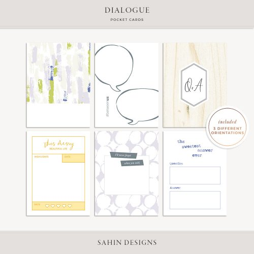 Dialogue Printable Pocket Cards - Sahin Designs
