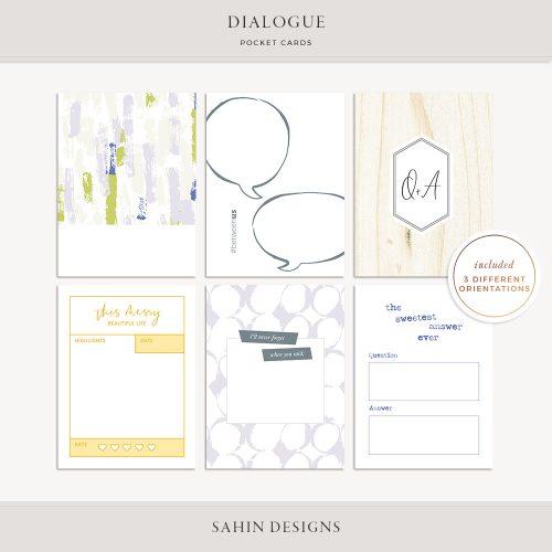 Dialogue Printable Pocket Cards - Sahin Designs