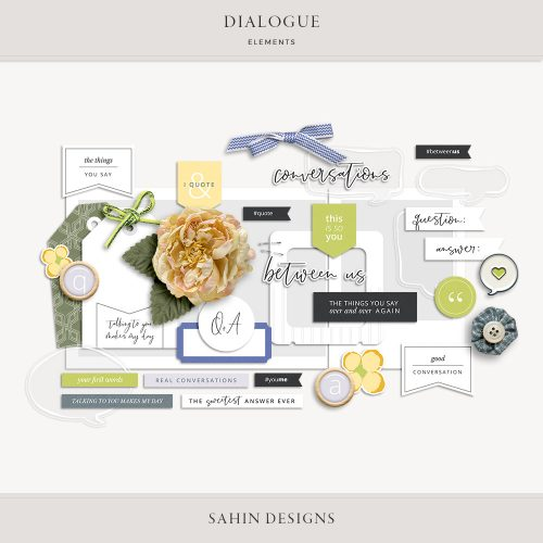 Dialogue Digital Scrapbook Elements - Sahin Designs