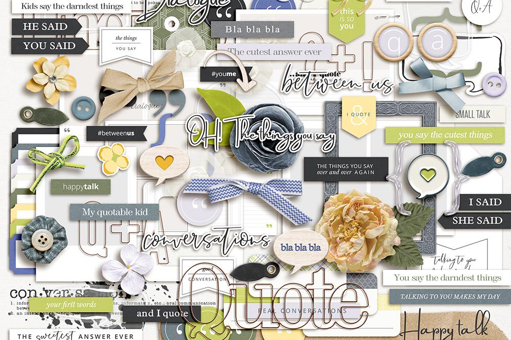 Dialogue Digital Scrapbook Collection- Sahin Designs