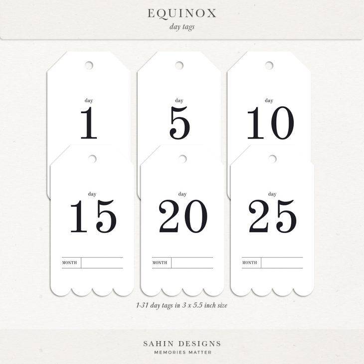 Equinox Digital Scrapbook Day Tags - Sahin Designs
