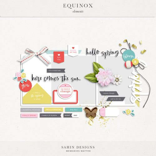 Equinox Digital Scrapbook Elements - Sahin Designs