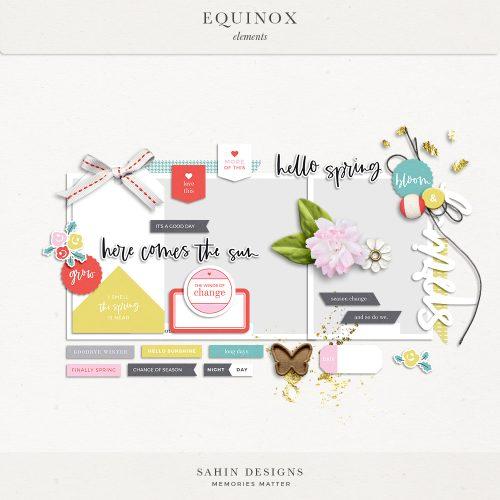 Equinox Digital Scrapbook Elements - Sahin Designs