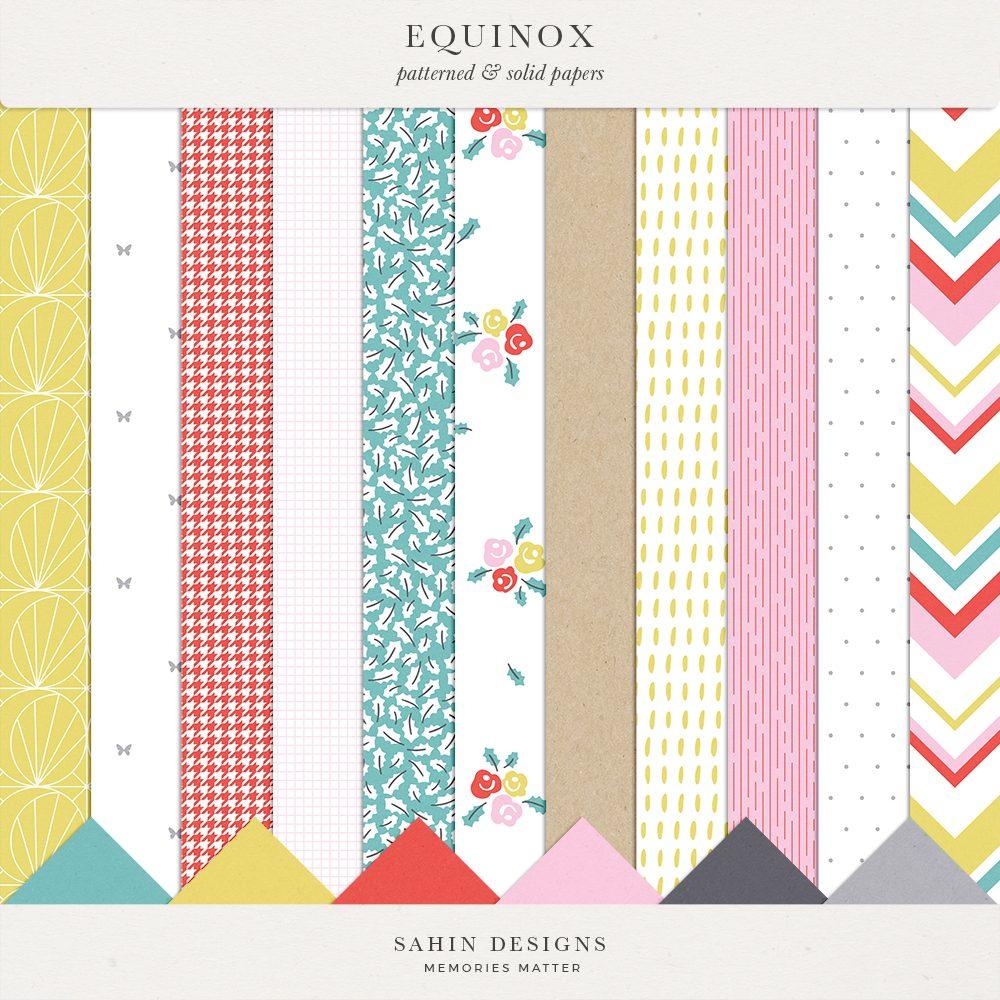 Equinox Digital Scrapbook Papers - Sahin Designs