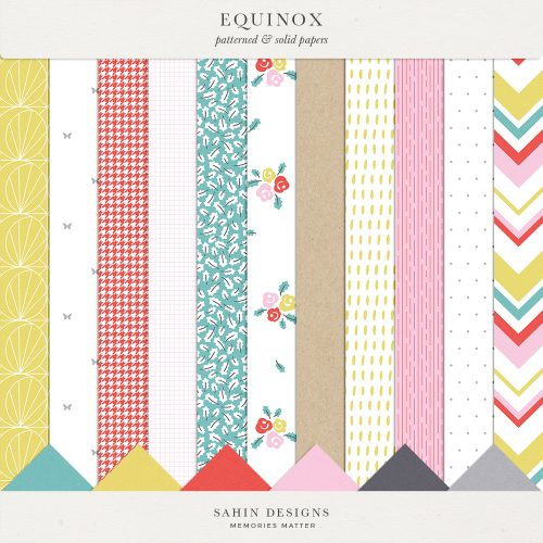 Equinox Digital Scrapbook Papers - Sahin Designs