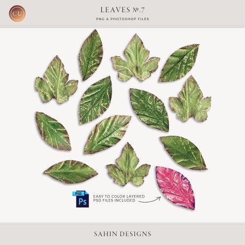 Extracted painted leaves - Sahin Designs - CU Digital Scrapbook
