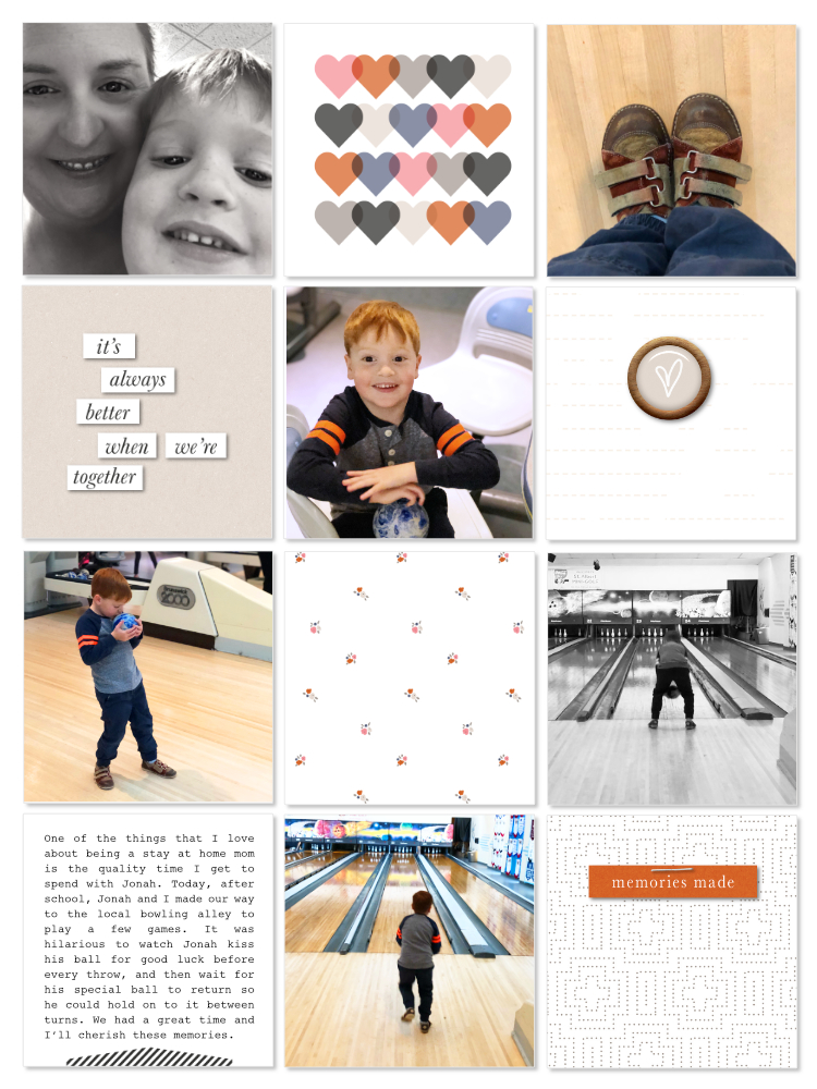 Everyday life digital pocket scrapbook layout - Sahin Designs