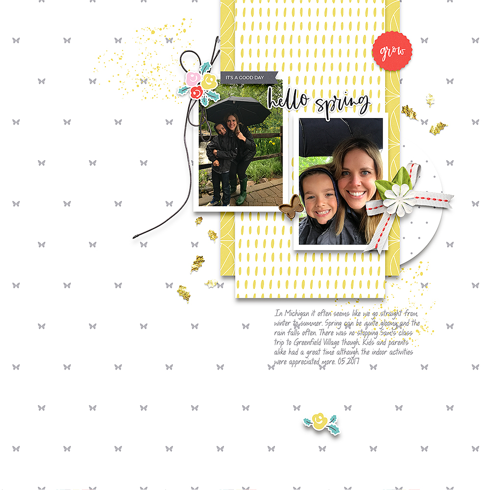 Spring digital scrapbook layout - Sahin Designs