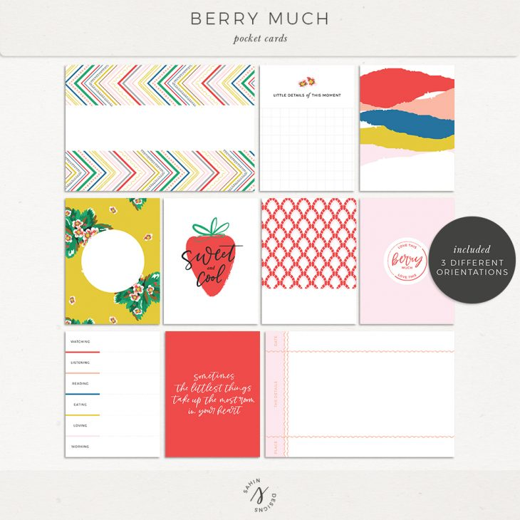 Berry Much Printable Pocket Cards - Sahin Designs