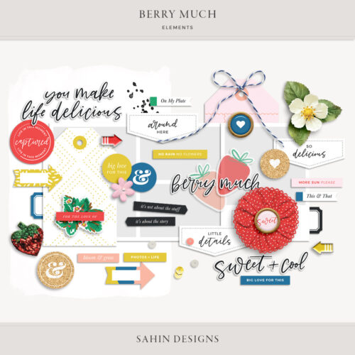 Berry Much Digital Scrapbook Elements - Sahin Designs