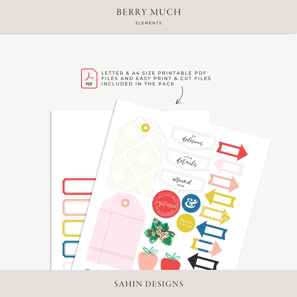 Berry Much Digital Scrapbook Elements - Sahin Designs