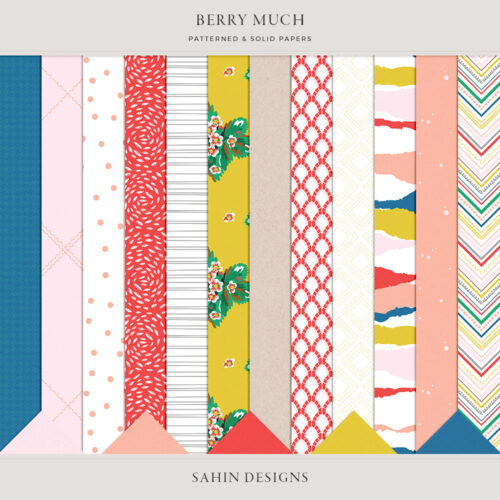 Berry Much Digital Scrapbook Papers - Sahin Designs
