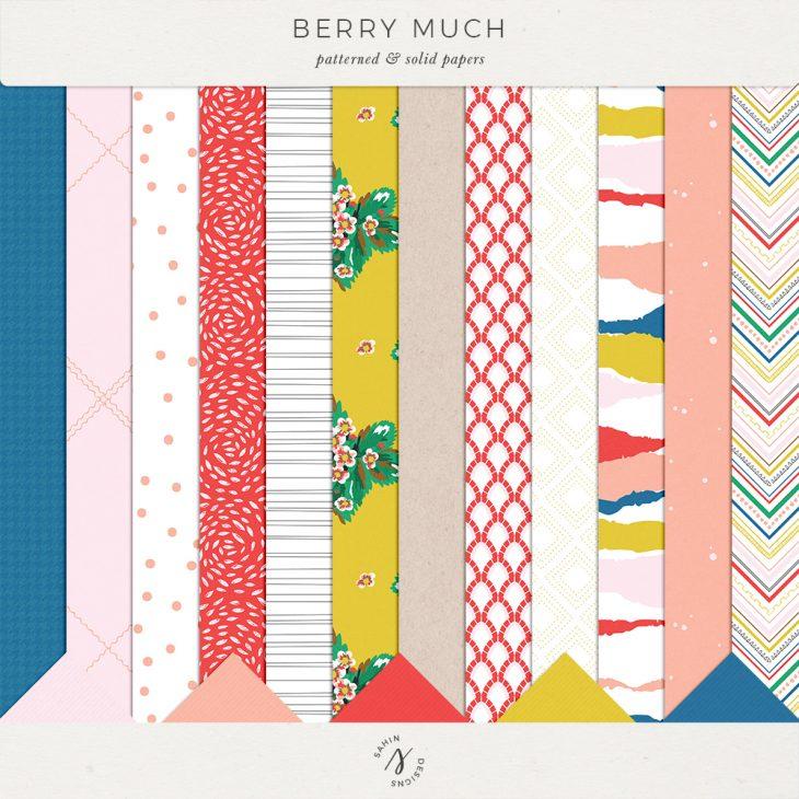 Berry Much Digital Scrapbook Papers - Sahin Designs