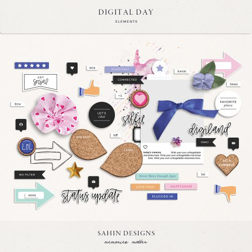 Digital Day Digital Scrapbook Elements - Sahin Designs