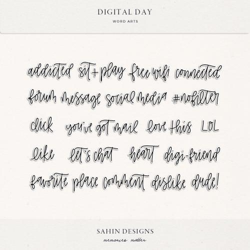 Digital Day Digital Scrapbook Wordarts - Sahin Designs