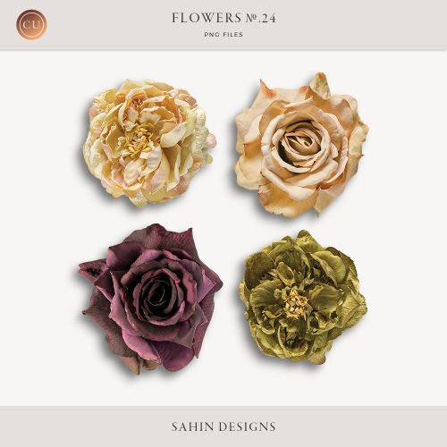Extracted fabric roses - Sahin Designs - CU Digital Scrapbook