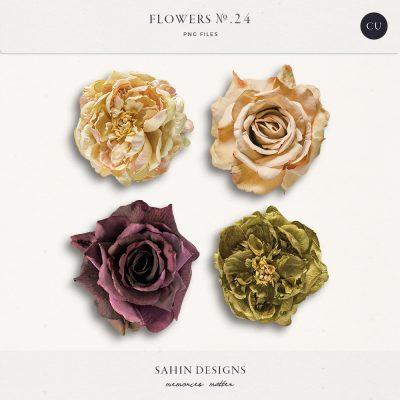Extracted fabric roses - Sahin Designs - CU Digital Scrapbook