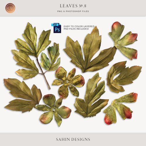Extracted velvet leaves - Sahin Designs - CU Digital Scrapbook