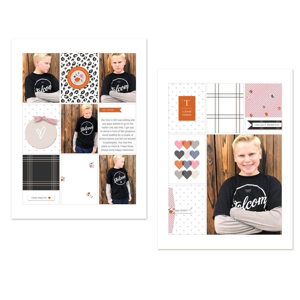 Boy digital pocket scrapbook layout - Sahin Designs