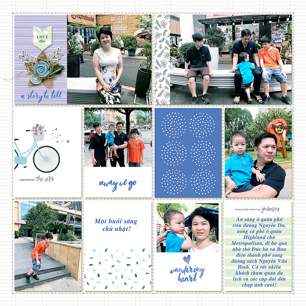 Family digital pocket scrapbook layout - Sahin Designs
