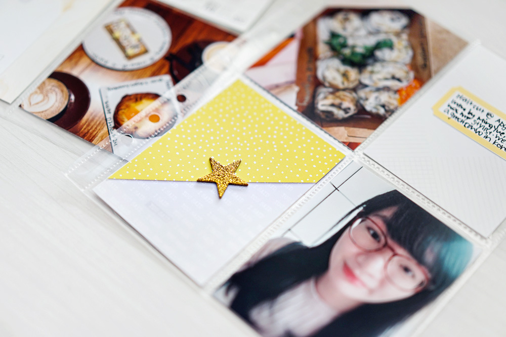 Everyday life hybrid pocket scrapbook layout - Sahin Designs