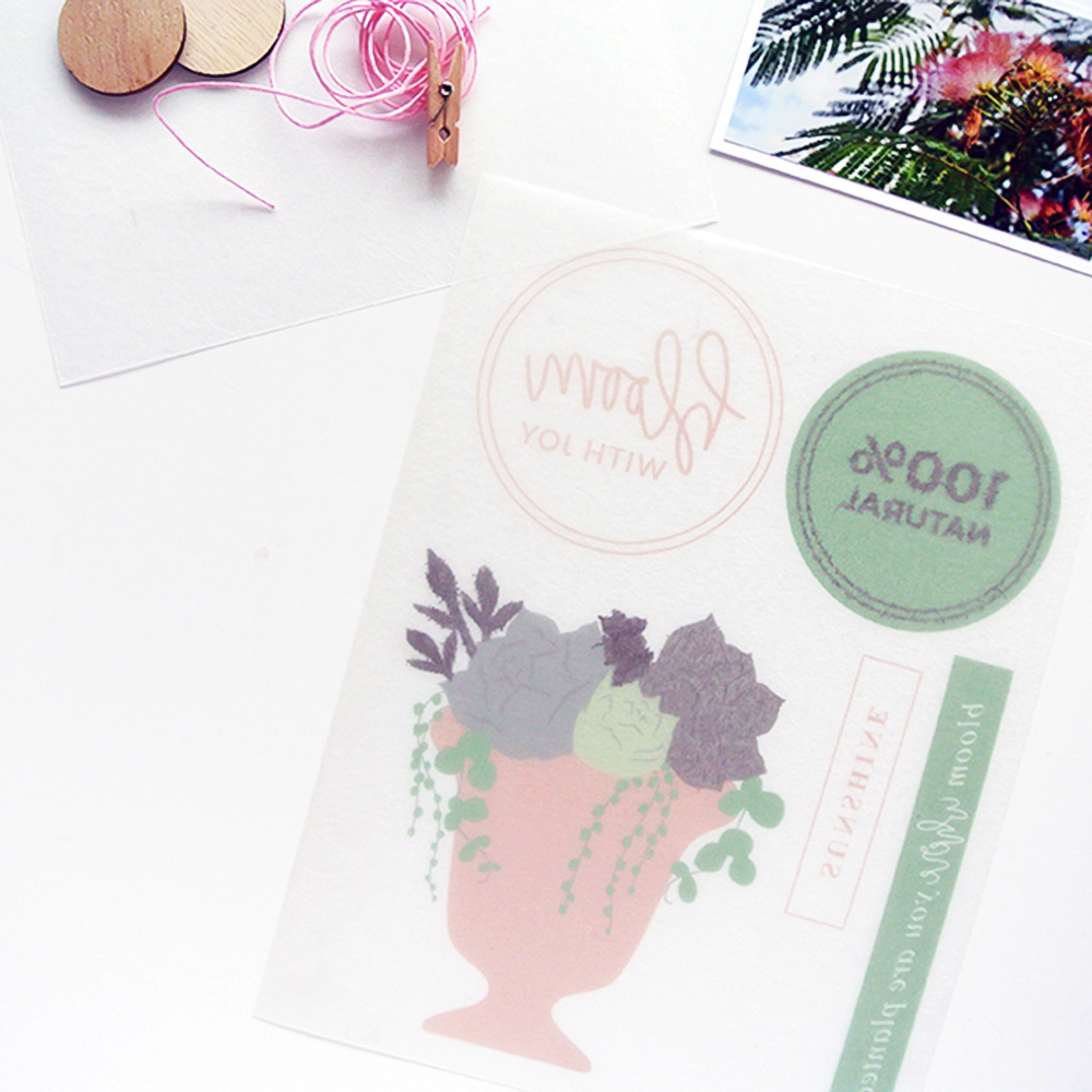 DIY shrink plastic embellishments for scrapbook projects - Sahin Designs