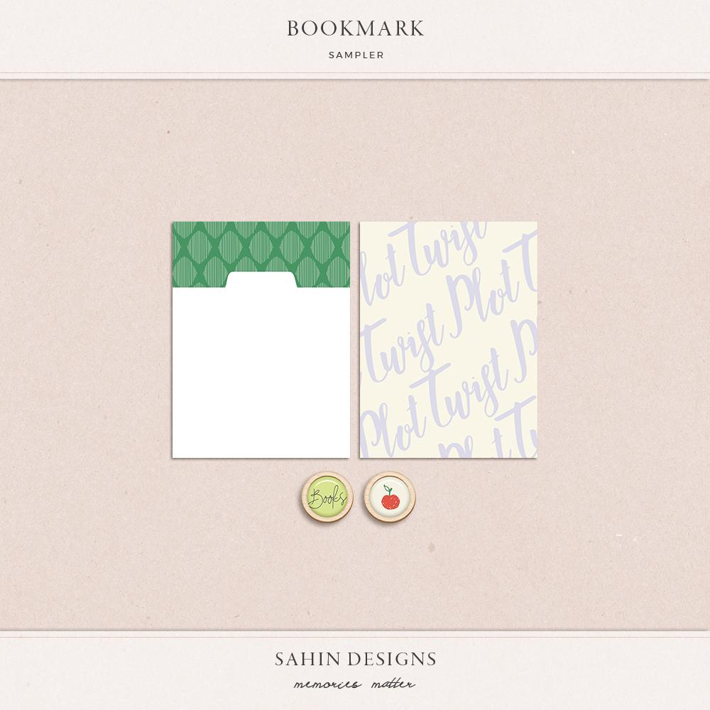 Bookmark Free Digital Scrapbook Kit | Sahin Designs