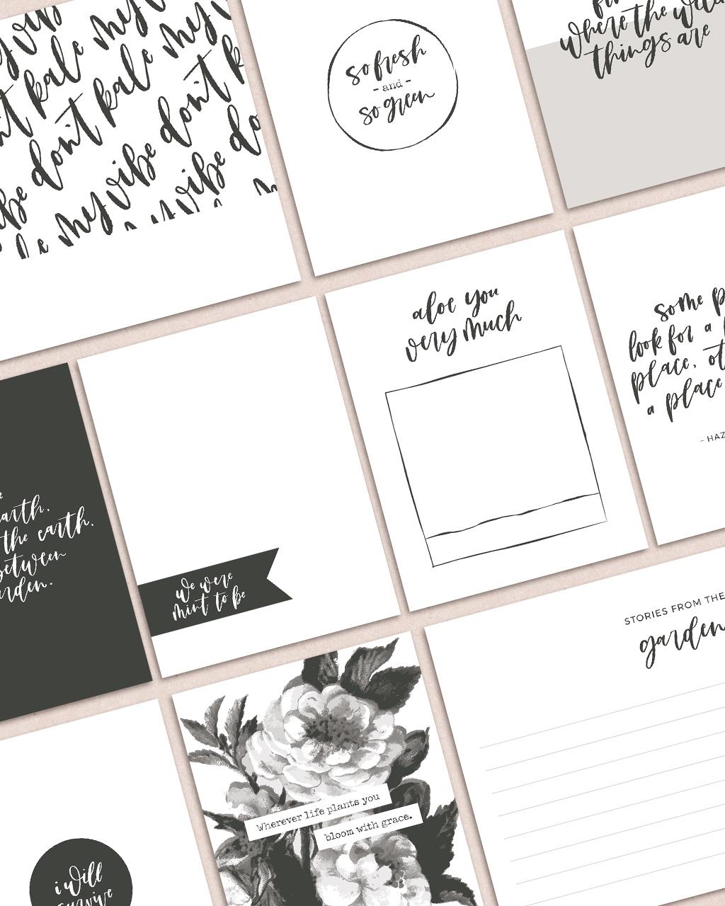 Garden Party Free Digital Scrapbook Pocket Cards - Sahin Designs