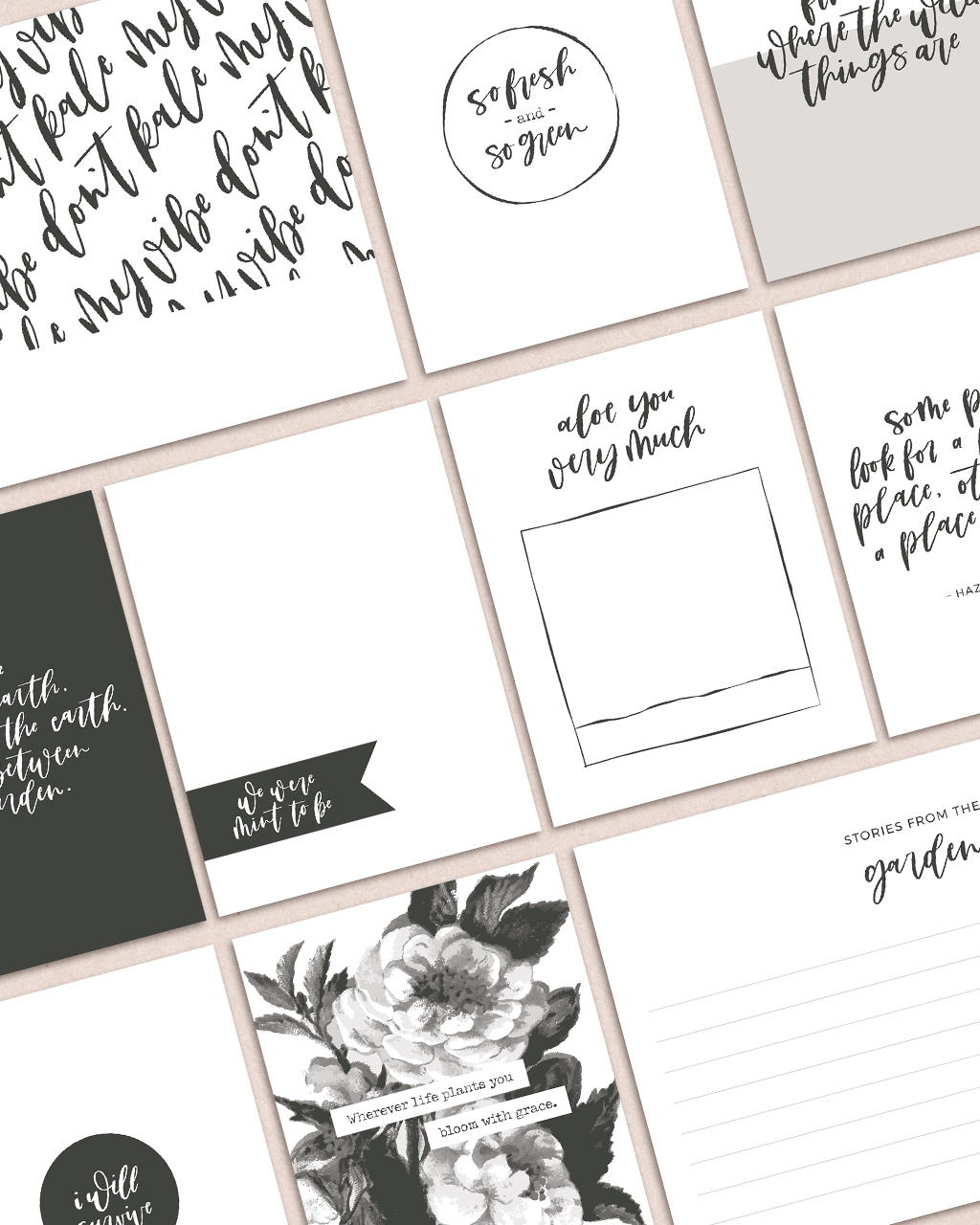 Garden Party Pocket Cards Freebie (Limited Time)