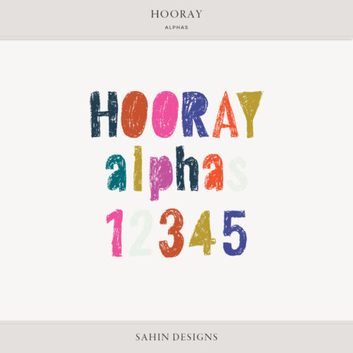 Hooray Digital Scrapbook Alphas - Sahin Designs