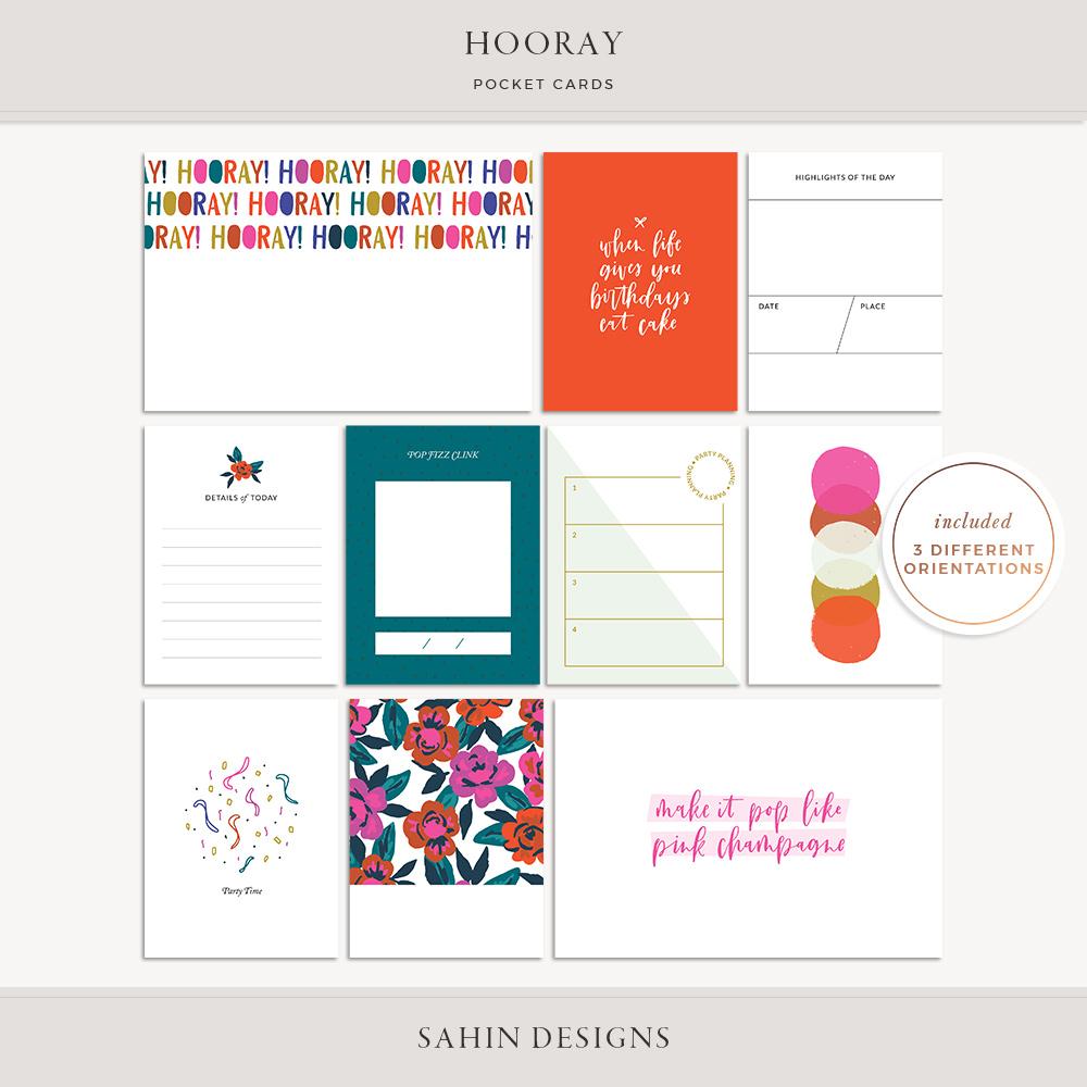 Hooray Printable Pocket Cards - Sahin Designs