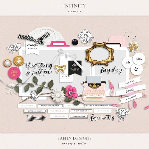 Infinity Digital Scrapbook Elements - Sahin Designs