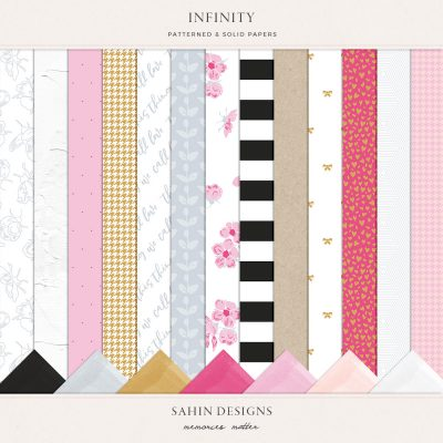 Infinity Digital Scrapbook Papers - Sahin Designs