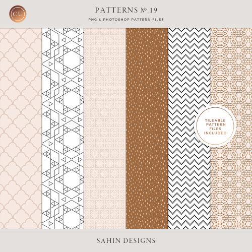 Patterns No.19 - Sahin Designs - CU Digital Scrapbooking