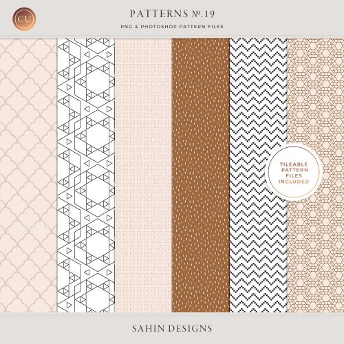 Patterns No.19 - Sahin Designs - CU Digital Scrapbooking