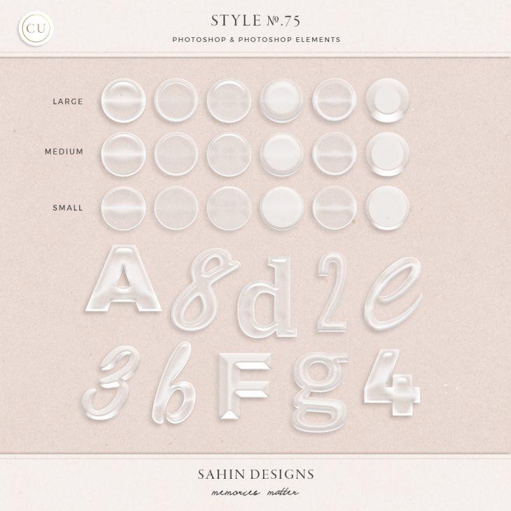 Glass Photoshop layer styles - Sahin Designs - CU Digital Scrapbook