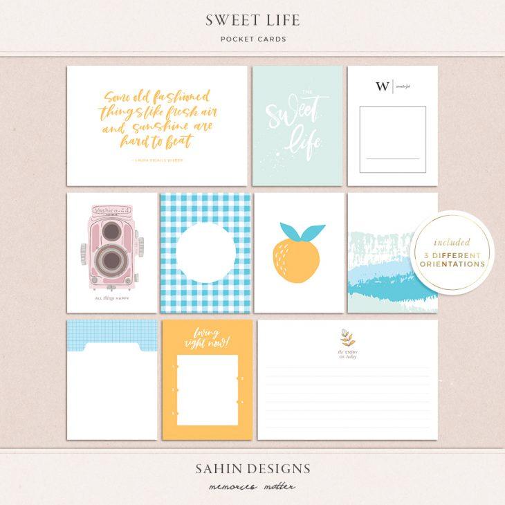 Sweet Life Printable Pocket Cards - Sahin Designs