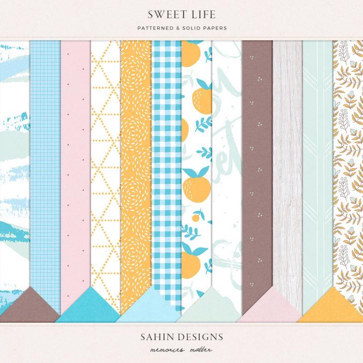 Sweet Life Digital Scrapbook Papers - Sahin Designs