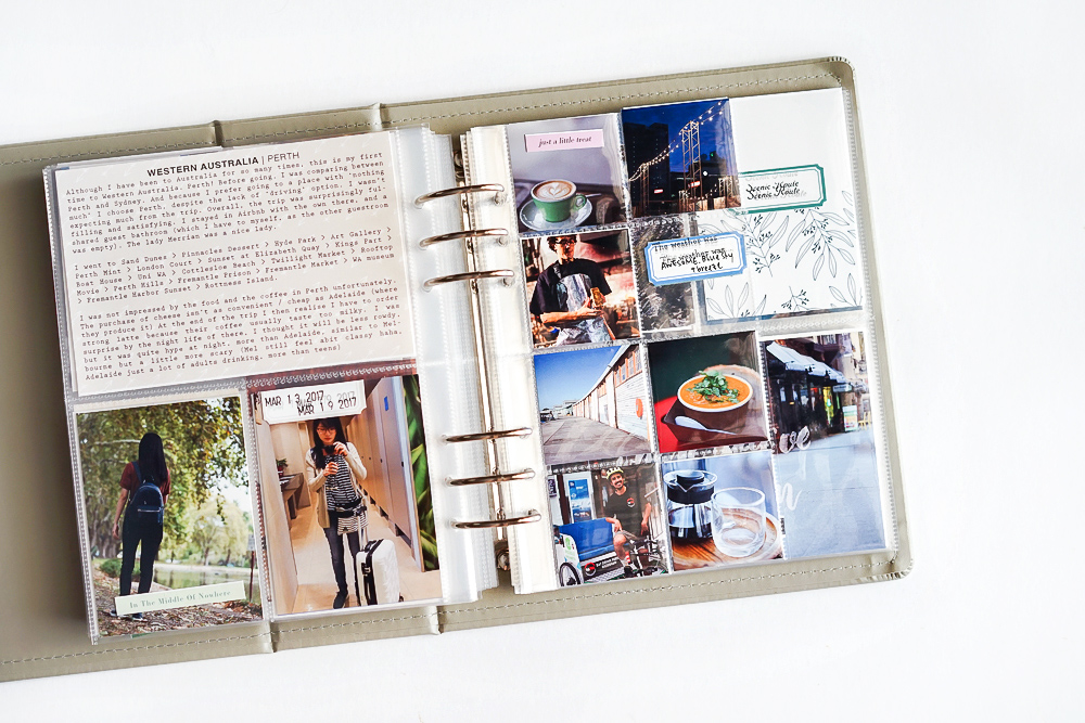 Scrapbook a long vacation in project life album in 4 steps - Sahin Designs