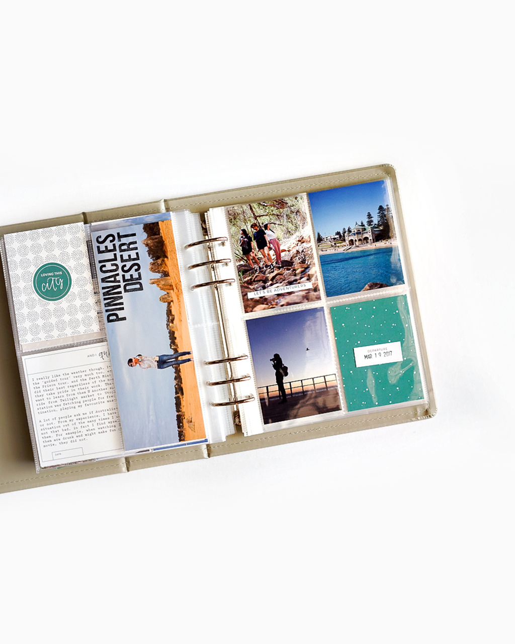 Scrapbook a long vacation in project life album in 4 steps
